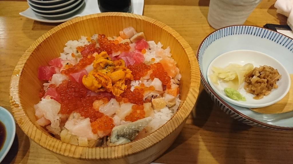 海鮮ひつまぶしと薬味