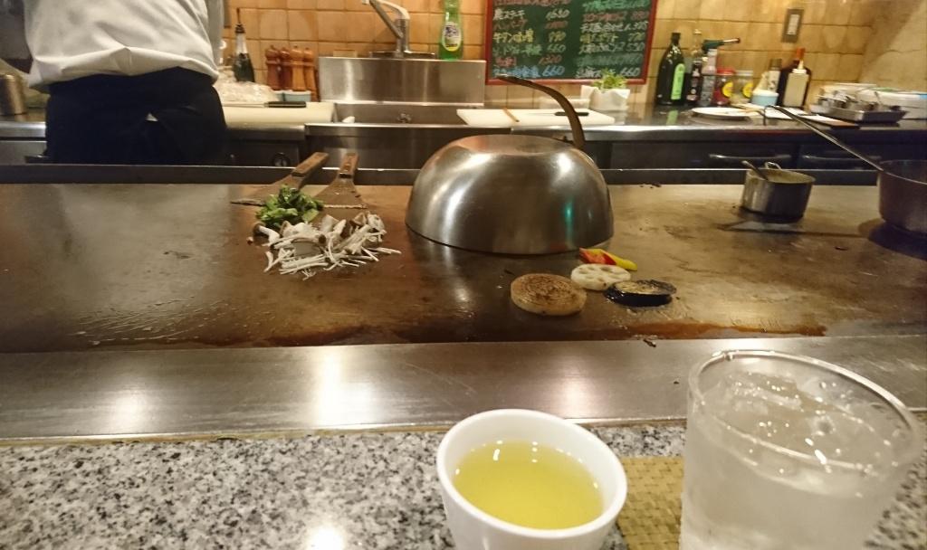 魚ランチ調理中